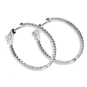 CZ by Kenneth Jay Lane Bella Inside Out Hoops NWT!